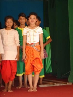 Sophal (in orange pants)