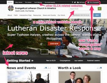 The new ELCA website