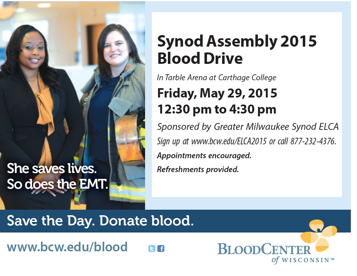 Synod Assembly 2015 Blood Drive