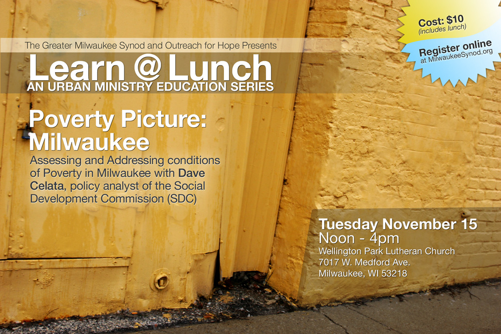 Learn@Lunch: an urban ministry education series