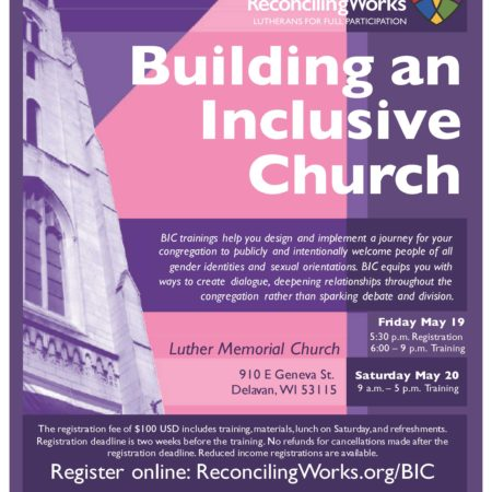 Building An Inclusive Church (BIC Training, Delavan, WI)