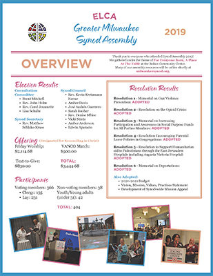 Synod Assembly Overview